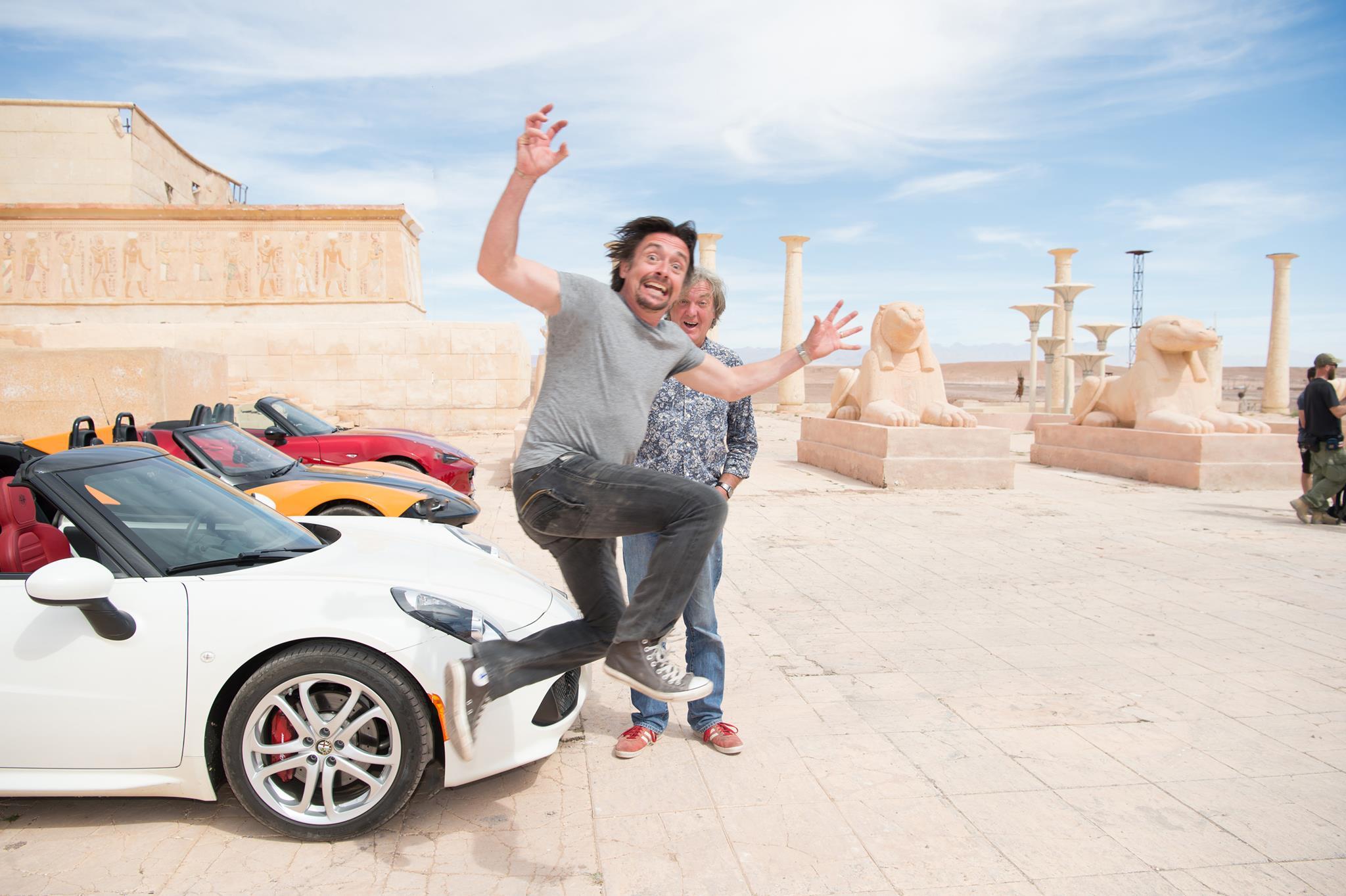 Momentka z natáčení Grand Tour v Maroku