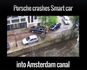 Porsche srazilo Smart do kanálu