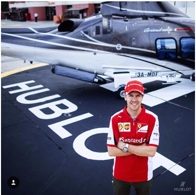 Sebastian Vettel a Hublot