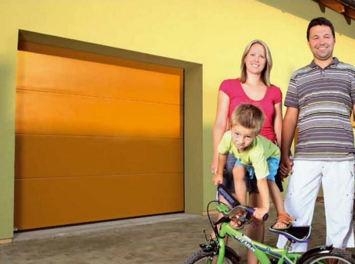 Sekční garážová vrata Kružík